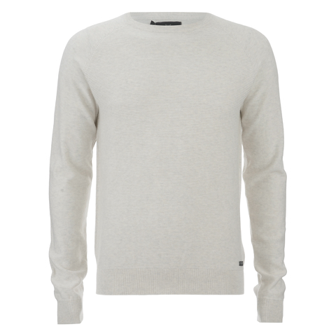 Threadbare Men's Tallin Raglan Crew Neck Jumper - Ecru Marl