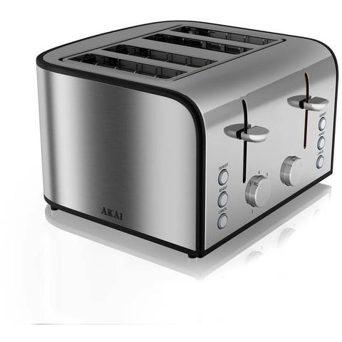 Akai A20002 4 Slice Toaster - Stainless Steel