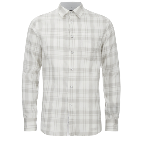 rag & bone Men's Beach Shirt - White/Grey