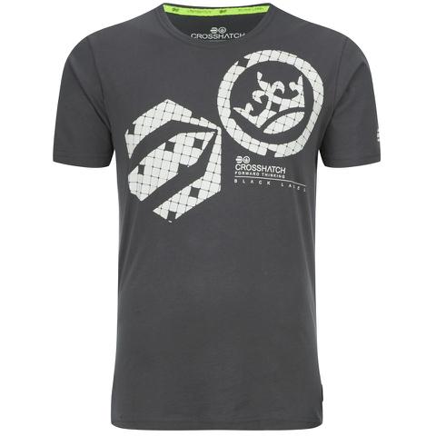 Crosshatch Men's Arowana Print T-Shirt - Magnet
