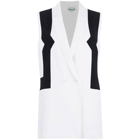KENZO Women's Sleeveless Blazer - White