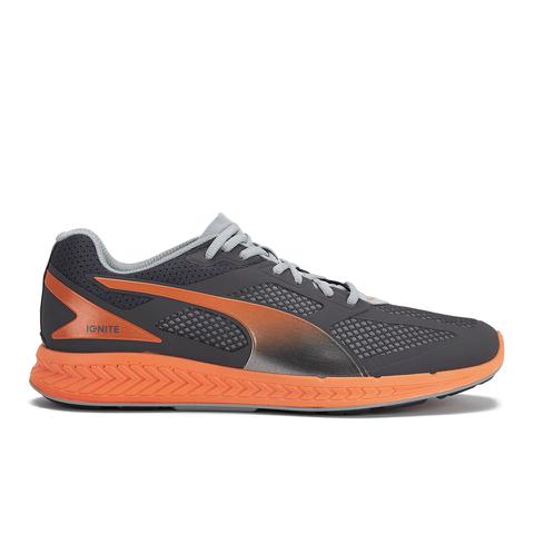 Puma Men's Ignite Mesh Running Trainers - Grey/Orange