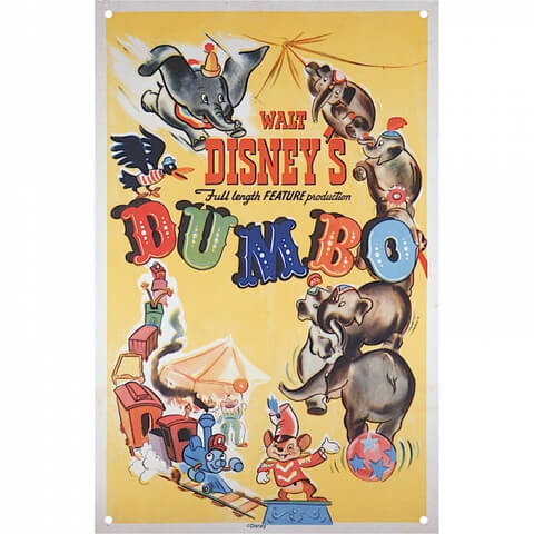Disney Film Posters Dumbo Large Tin Sign