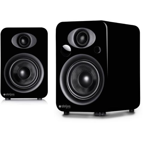 Steljes Audio NS3 Bluetooth Duo Speakers - Coal Black