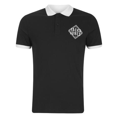 Jack & Jones Men's Core Flat Lock Polo Shirt - Black