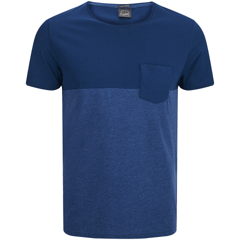 Jack & Jones Men's Originals Tobe 2 Tone T-Shirt - Poseidon