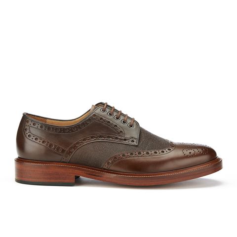 PS by Paul Smith Men's Xander Leather Brogues - Dark Tan