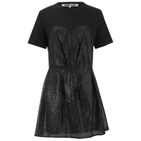 McQ Alexander McQueen Women's Bustier T-Shirt Dress - Black