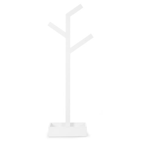 Wireworks Gloss White Towel Rail Branch