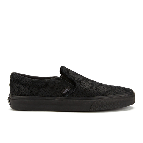 Vans Men's Classic Slip-On Trainers - Black Reptile