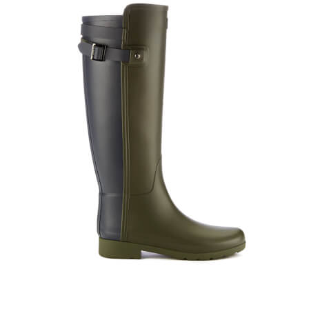 Hunter Women's Original Refined Back Strap Wellies - Dark Olive/Navy