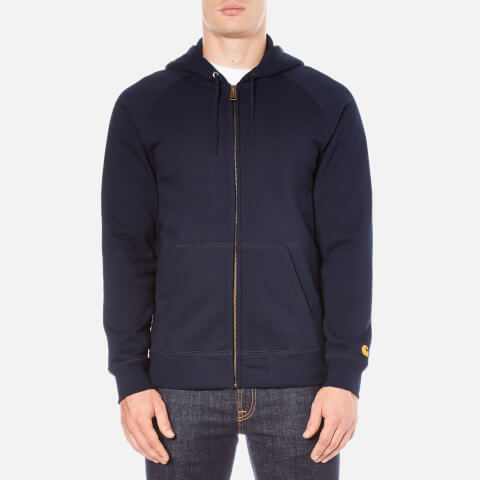 Carhartt Men's Hooded Chase Jacket - Navy/Gold