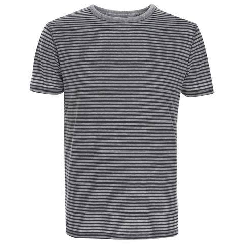 Threadbare Men's Helsinki Burnout Stripe T-Shirt - Grey