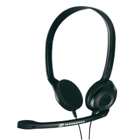 Sennheiser PC 3 CHAT Lightweight Telephony On-Ear Headset with Mic - Black