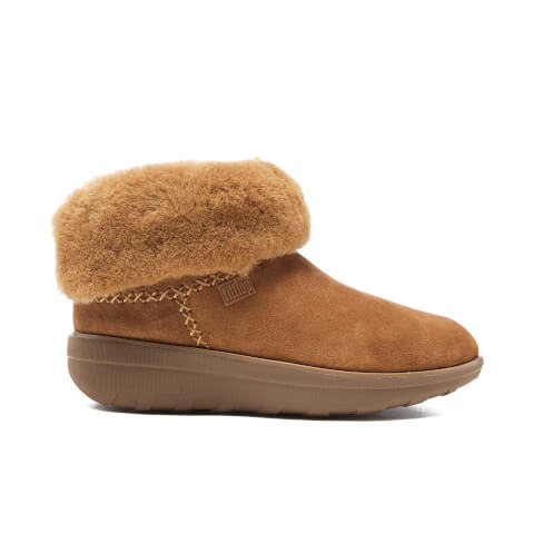 FitFlop Women's Supercush Mukloaff Suede Shorty Boots - Chestnut