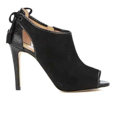 MICHAEL MICHAEL KORS Women's Jennings Leather Peep Toe Heeled Boots - Black
