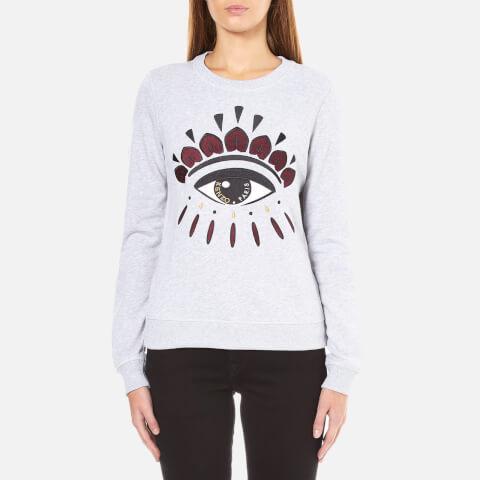 KENZO Women's Eye Logo Sweatshirt - Light Grey