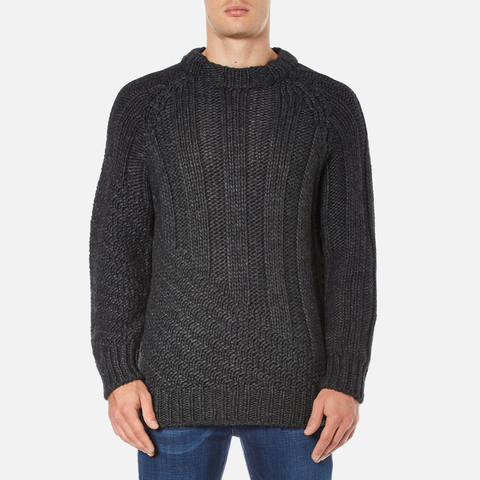 Vivienne Westwood Anglomania Men's Long Ribs Jumper - Charcoal