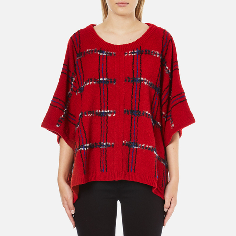 Boutique Moschino Women's Cape Jumper - Red