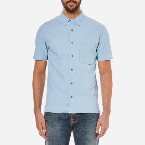 Nudie Jeans Men's Brandon Short Sleeve Shirt - Denim
