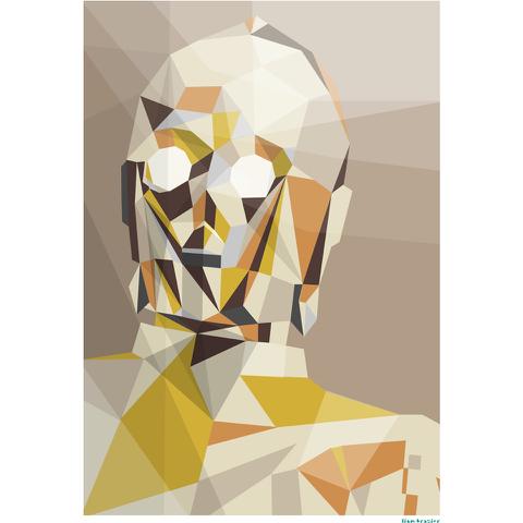 Star Wars C-3PO Inspired illustrative Art Print - 11.7 x 16.5 Inches