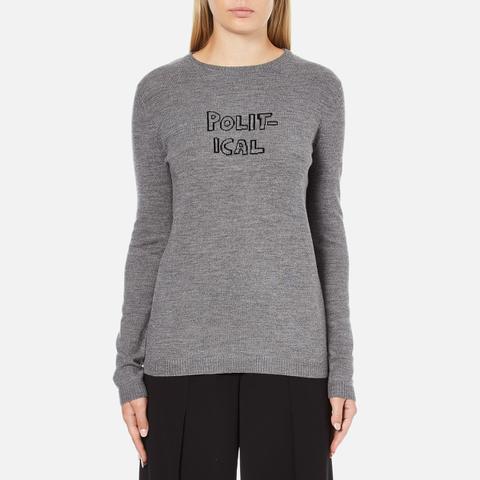 Bella Freud Women's Political Merino Wool Jumper - Grey