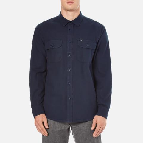 OBEY Clothing Men's Gunner Woven Flannel Shirt - Navy