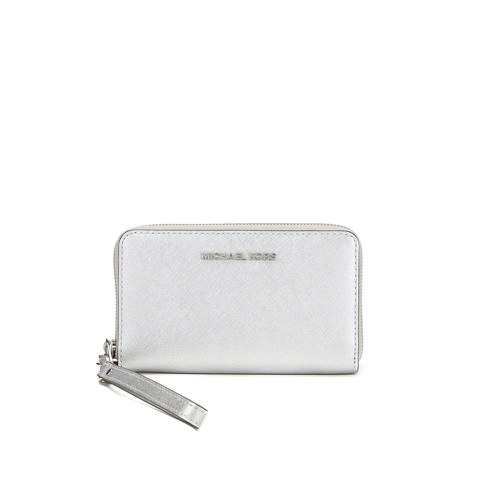 MICHAEL MICHAEL KORS Jet Set Travel Phone Purse - Silver