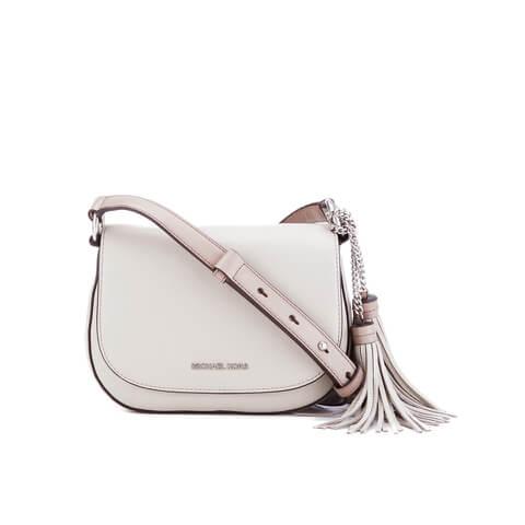MICHAEL MICHAEL KORS Elyse Tassle Saddle Bag - Cream