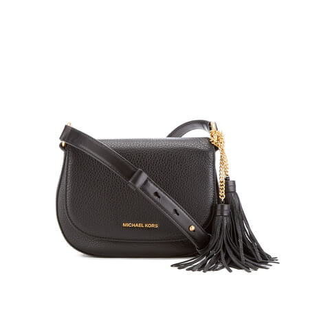 MICHAEL MICHAEL KORS Elyse Tassle Saddle Bag - Black