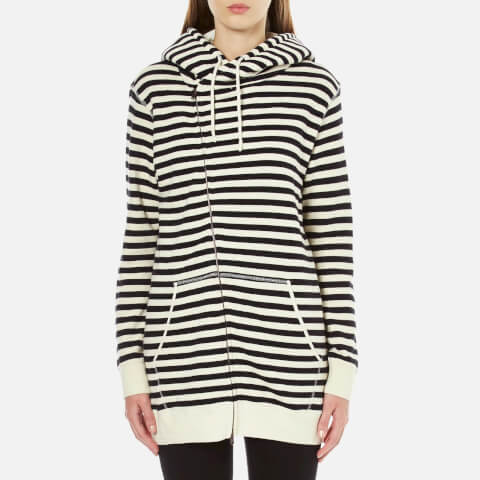 Maison Scotch Women's Home Alone Longer Length Zip Through Hoody - Multi