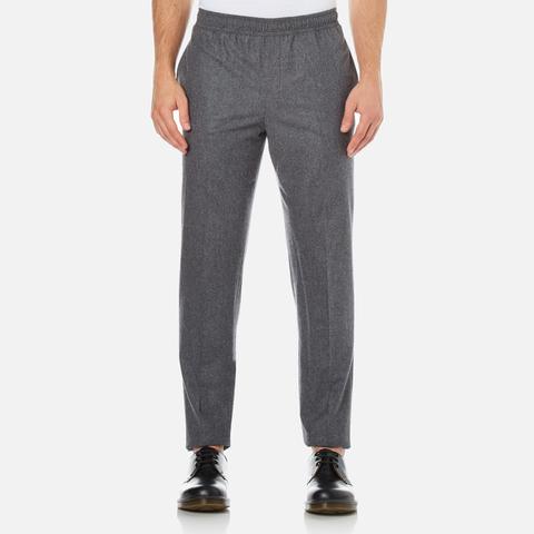 Carven Men's Elastic Waist Trousers - Gris Chine