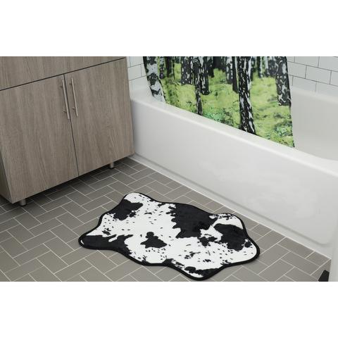 Cowhide Bath Rug - Black/White