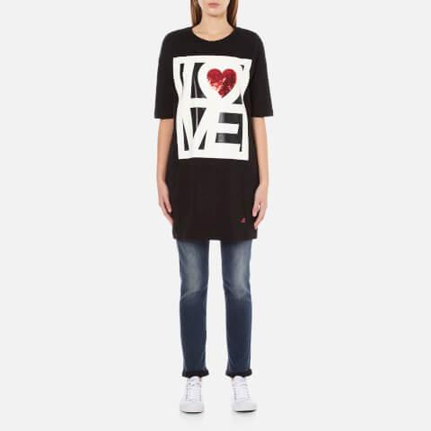 Love Moschino Women's Love T-Shirt Dress - Black
