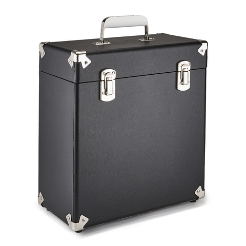 GPO Retro Portable Carry Case for LP Records and 12-Inch Vinyl - Black