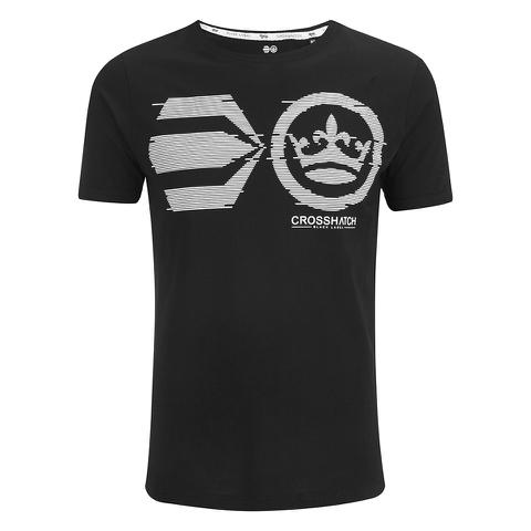 Crosshatch Men's Onsite Graphic T-Shirt - Black
