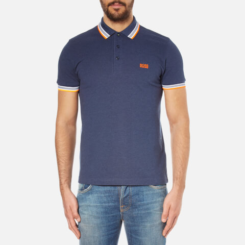 BOSS Green Men's Paddy Short Sleeve Polo Shirt - Blue