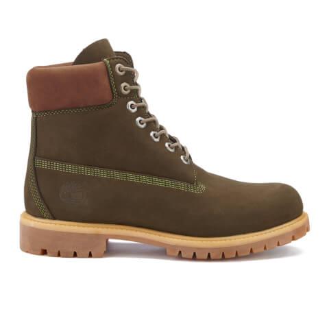 Timberland Men's 6 Inch Premium Boots - Dark Olive Waterbuck NB