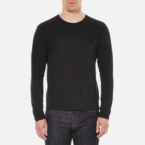 Versace Collection Men's Small Logo Crew Neck T-Shirt - Black