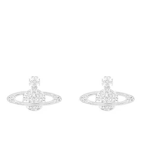 Vivienne Westwood Jewellery Women's Mini Bas Relief Pierced Earrings - Silver
