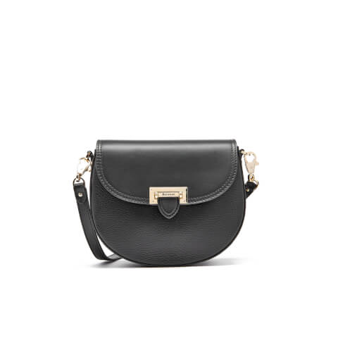 Aspinal of London Women's Portobello Mini Saddle Bag - Black