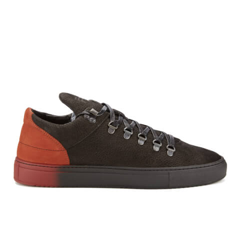 Filling Pieces Men's Mountain Cut Neets Low Top Trainers - Black/Red