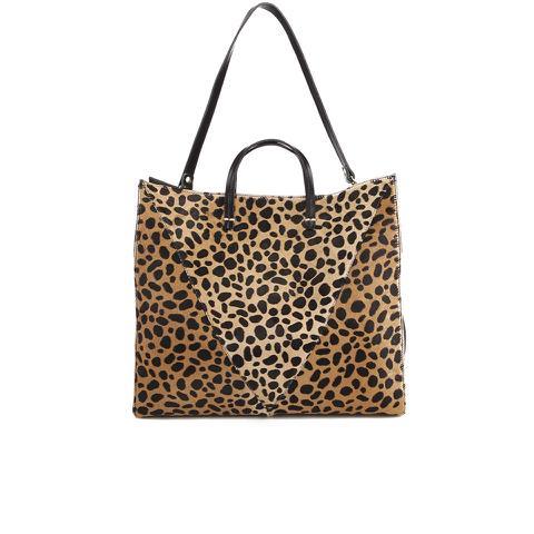 Clare V. Women's Simple V Tote Bag - Leopard