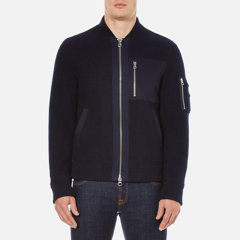 GANT Rugger Men's Woolly Bomber Jacket - Navy