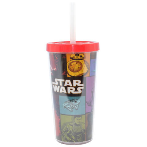 Star Wars Episode VII The Force Awakens Retro Drinking Soda Cup