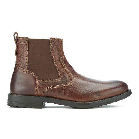 Clarks Men's Faulkner On Leather Chelsea Boots - Tan