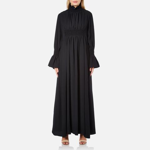 KENZO Women's Crepe Back Satin Maxi Dress - Black