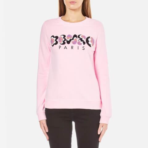KENZO Women's Embroidered Logo Sweatshirt - Pale Pink