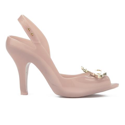 Vivienne Westwood for Melissa Women's Lady Dragon 16 Peep Toe Heeled Sandals - Nude Orb