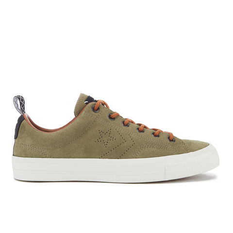 Converse CONS Men's Star Player Premium Suede Ox Trainers - Jute/Antique Sepia/Egret